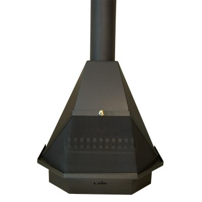 Half Hex open fire stove incl. flues
