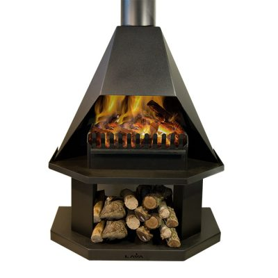 Lucy – Freestanding open fireplace incl. flues