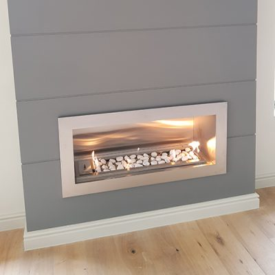 Built-in gas vent free fireplace – VERTO 900mm