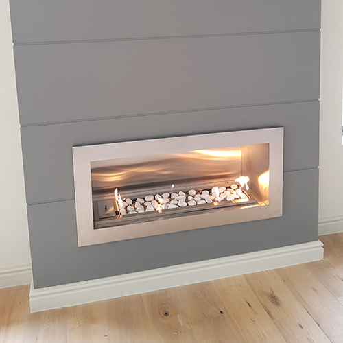 Built In Gas Vent Free Fireplace Verto 900mm Lava Fires