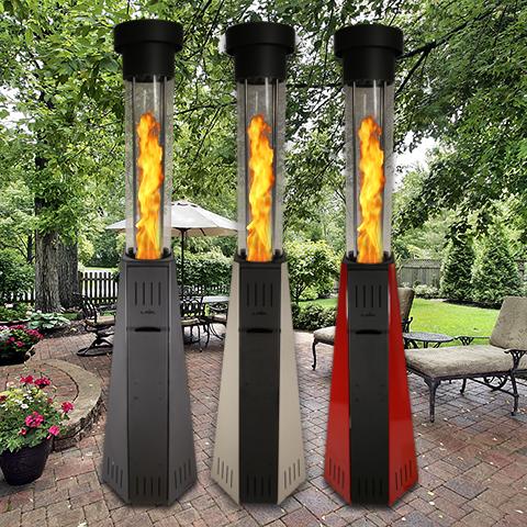 buy popular 4967b 9a210 Fs 001 fire Pillar Outdoor Patio Heaters
