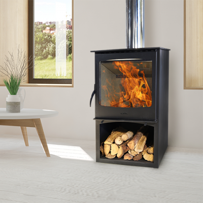 Magma-II 10kW Stove with wood storage
