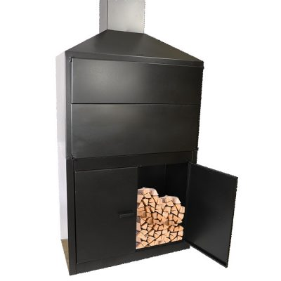 900mm double skin Patio Braai on Cabinet Incl. Rotating Cowl and Flue Pipes