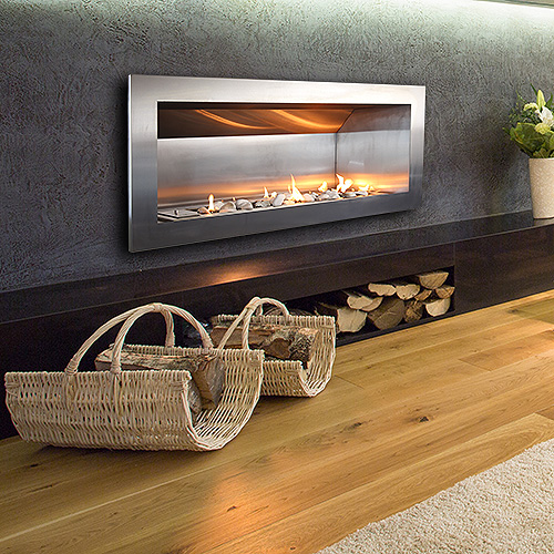 built in gas vent free fireplace