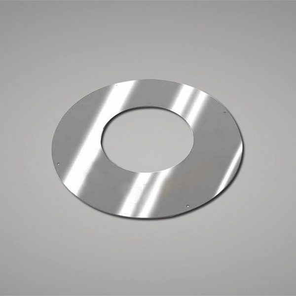 Stainless steel ceiling plate for flues