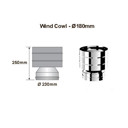 Cyclone cowl 180mm